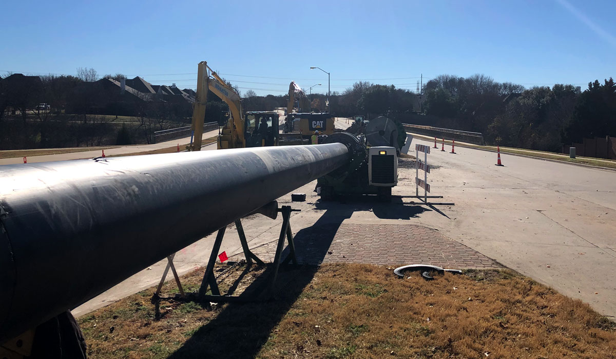 Indian Creek Force Main Replacement No. 2 for North Texas Municipal Water District